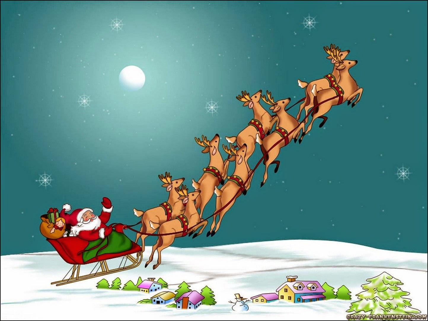 Papa Noel y sus trineos