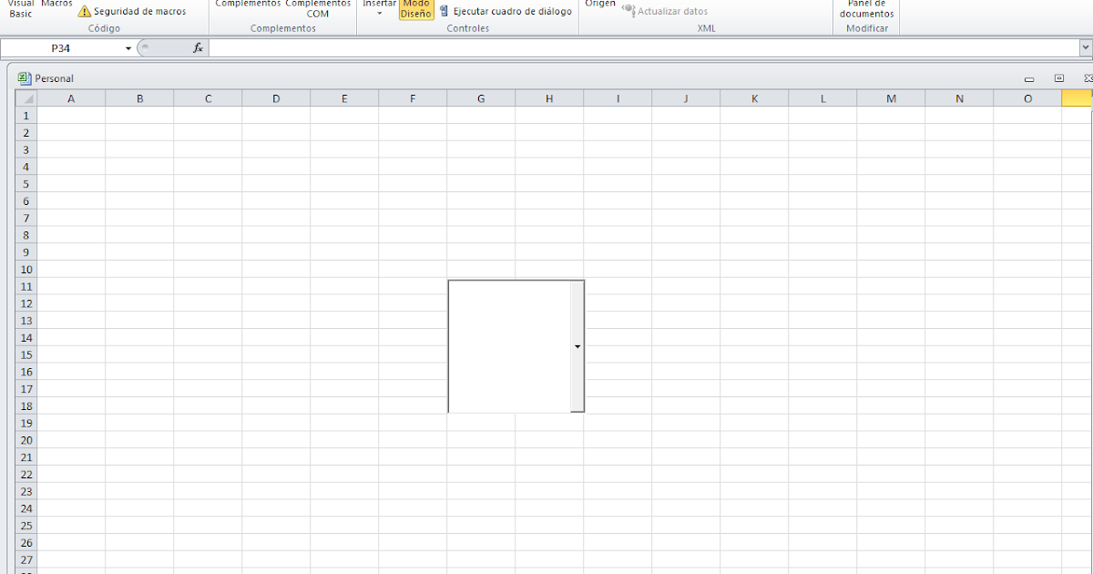 how to add combobox in excel with macro