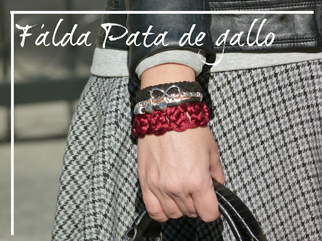 falda pata de gallo