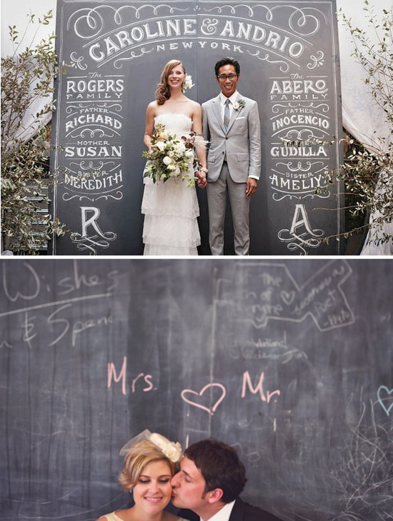 Wedding photo booth chalkboards