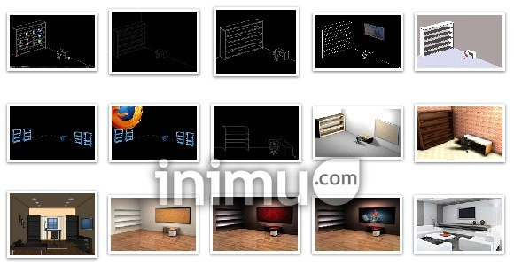 Download template wallpaper 3d