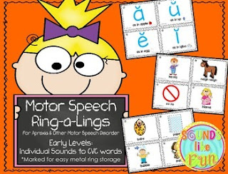 https://www.teacherspayteachers.com/Product/Motor-Speech-Ring-a-Lings-For-Apraxia-Early-Levels-2189759