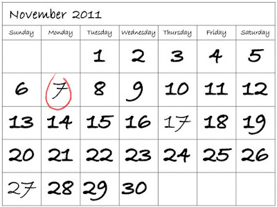 November 7, 2011 Non-working Holiday