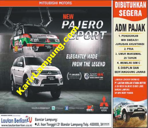 Lowongan Adm Pajak PT. Lautan Berlian Utama Motor Bandar Lampung