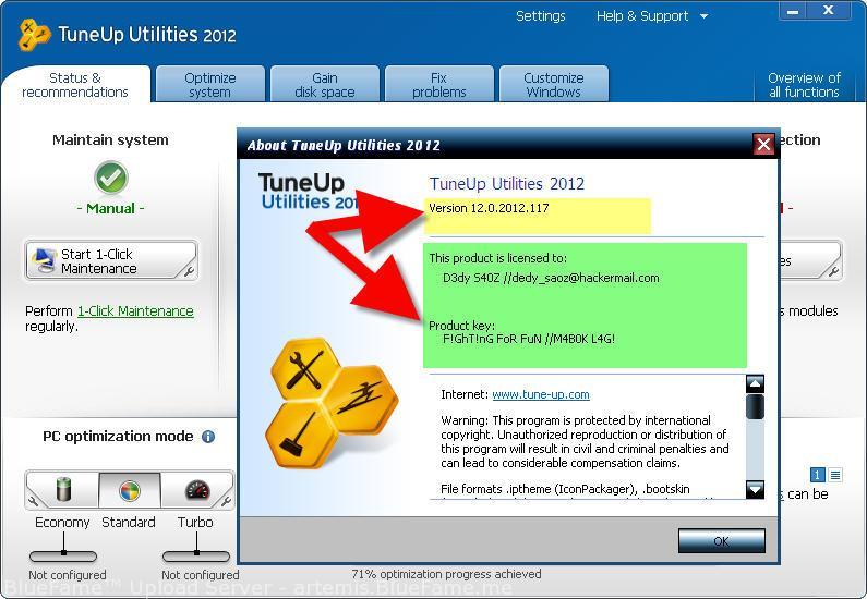 tuneup utilities 2012 скачать бесплатно на русском языке c ключом