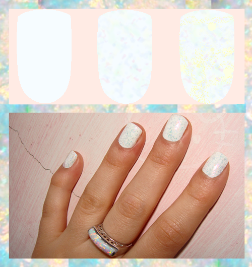 Opal Nail Art Tutorial with Flakes nail Polish