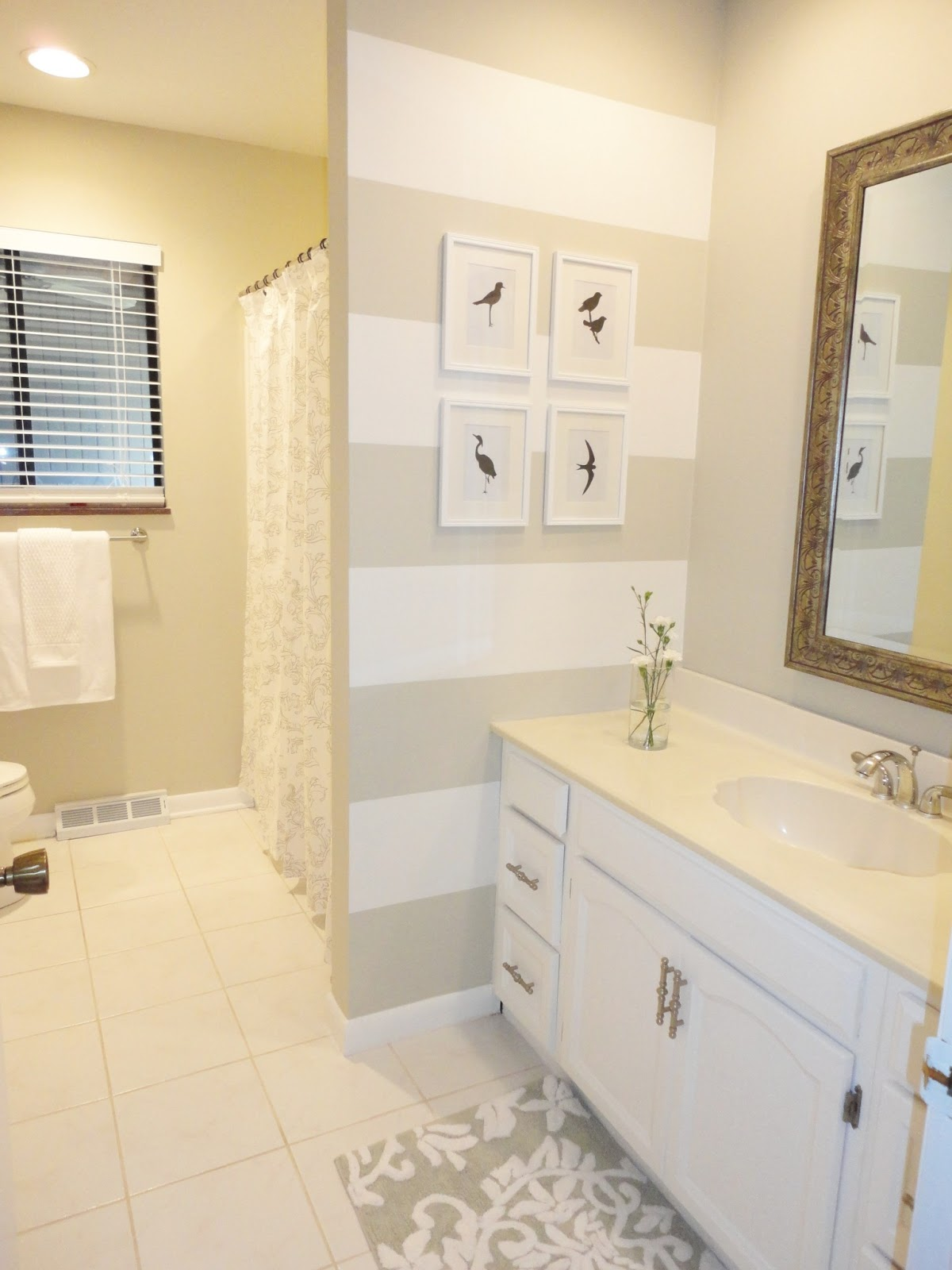 Livelovediy our guest bathroom makeover for Grey and white bathroom accessories