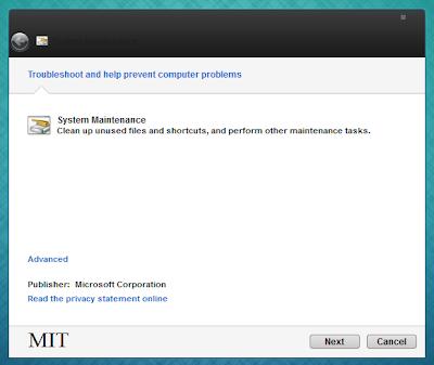 Perbaiki Windows 7 dengan Cepat dengan Membuat Shortcut untuk System Maintenance