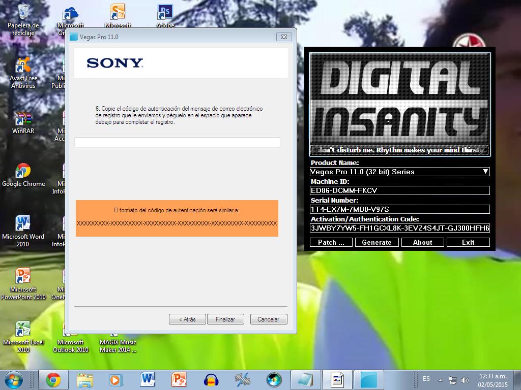 instalar sony vegas pro 11 64 bits keygen