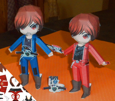 Kamen Rider W Ryu Terui Papercraft