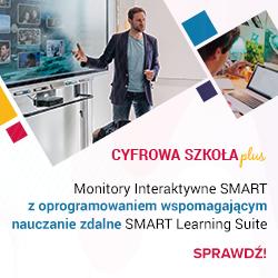 Monitory Interaktywne SMART z oprogramowaniem wspomagającym pracę zdalną SMART Learning Suite