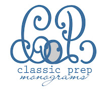 Sassy Sponsor: Classic Prep Monograms