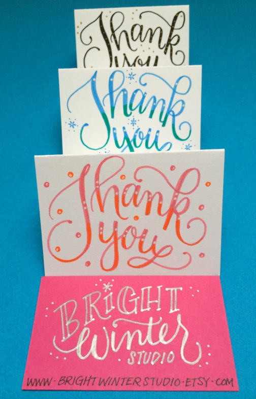 Lettering Lately blog > Thank you cards