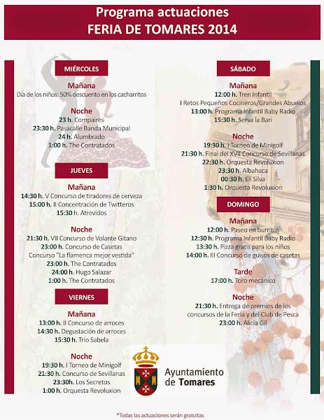 Tomares - Programa de Feria 2014