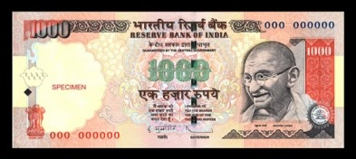RBI to issue new Rs.1,000/- denomination banknotes
