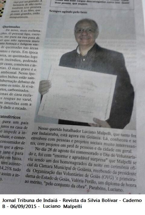 Jornal Tribuna de Indaiá - Luciano Malpelli