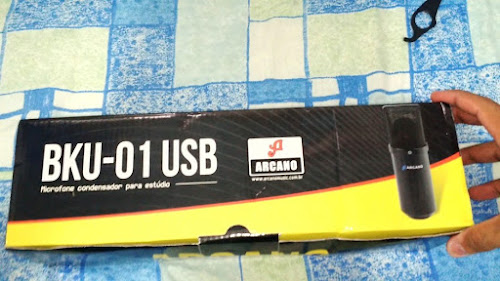 Kit Microfone USB Arcano para estúdio BKU-01