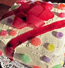 Lemon Gift-Wrapped Birthday Cake