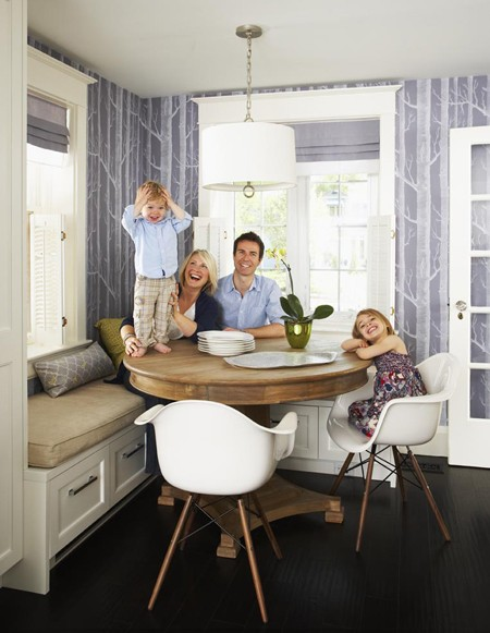 Picket Fence Design Why It Works A Family Kitchen Nook