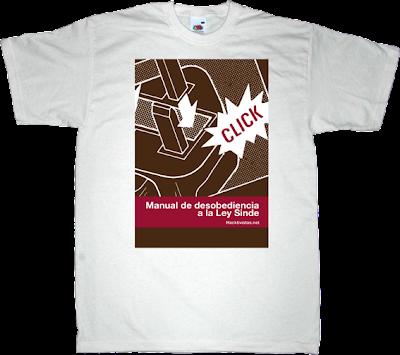 ley sinde Ley de Economía Sostenible ebook internet 2.0 activism t-shirt ephemeral-t-shirts