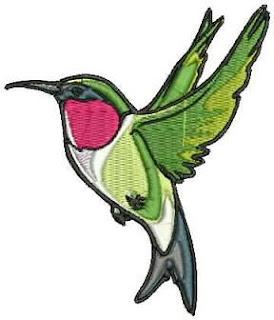 ptak haftowany mini
