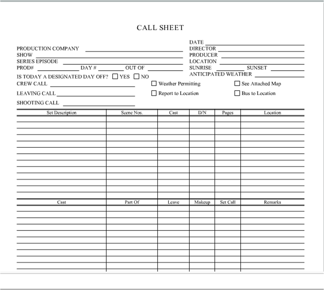 Sales Call Sheet Template. contact sheet template 8 free excel ...