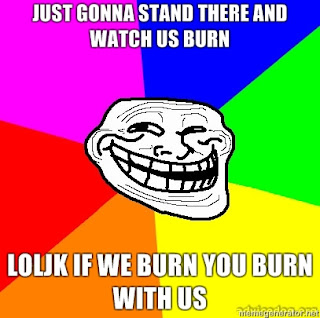 If we burn, you burn with us.