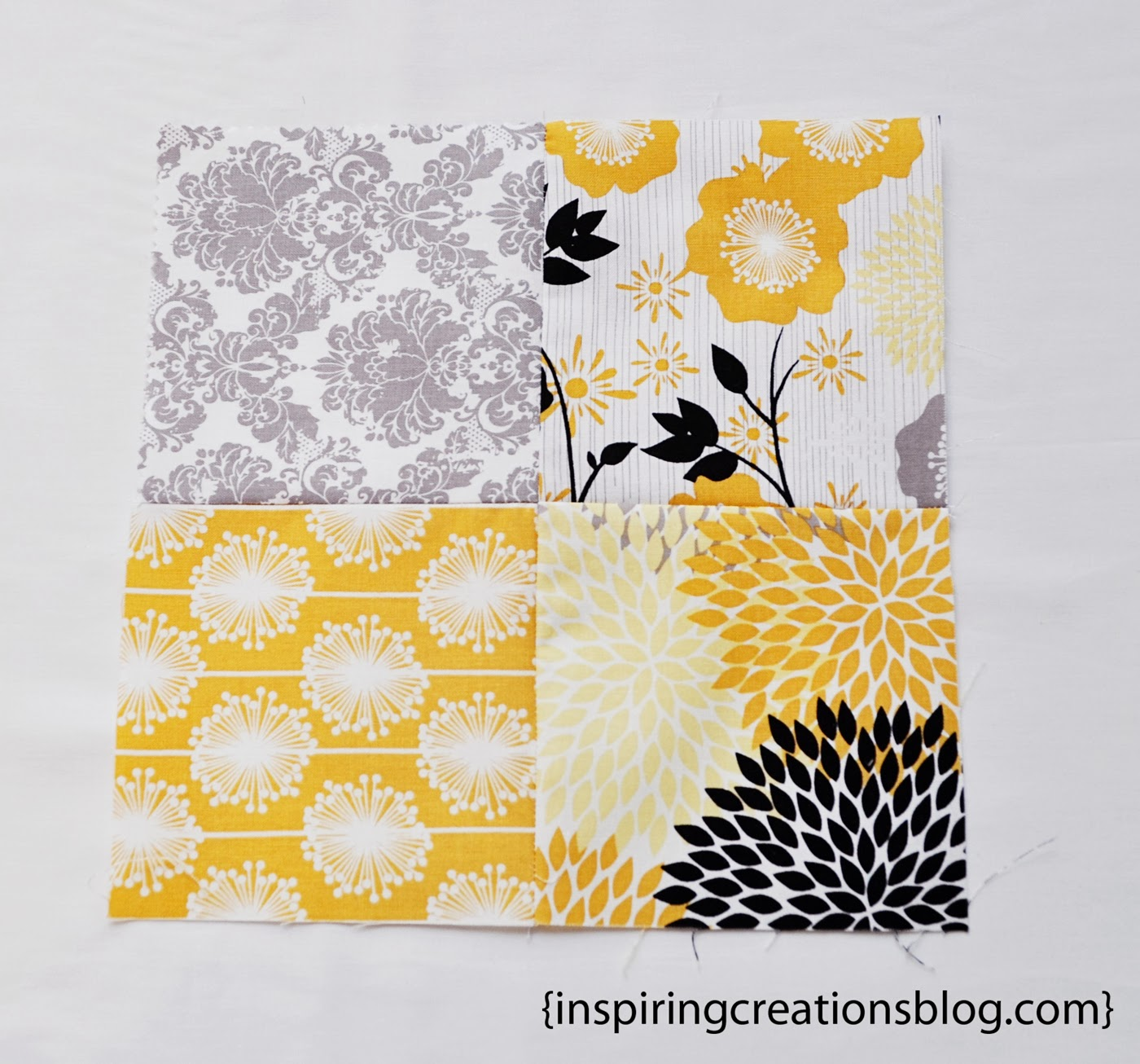Inspiring Creations: 4-Patch Slice-Free Quilt Block Tutorial