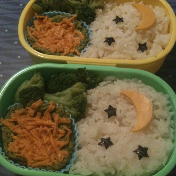 Ryan & AJ's lunches: garlic broccoli stir-fry; spinach tofu quiche w ...