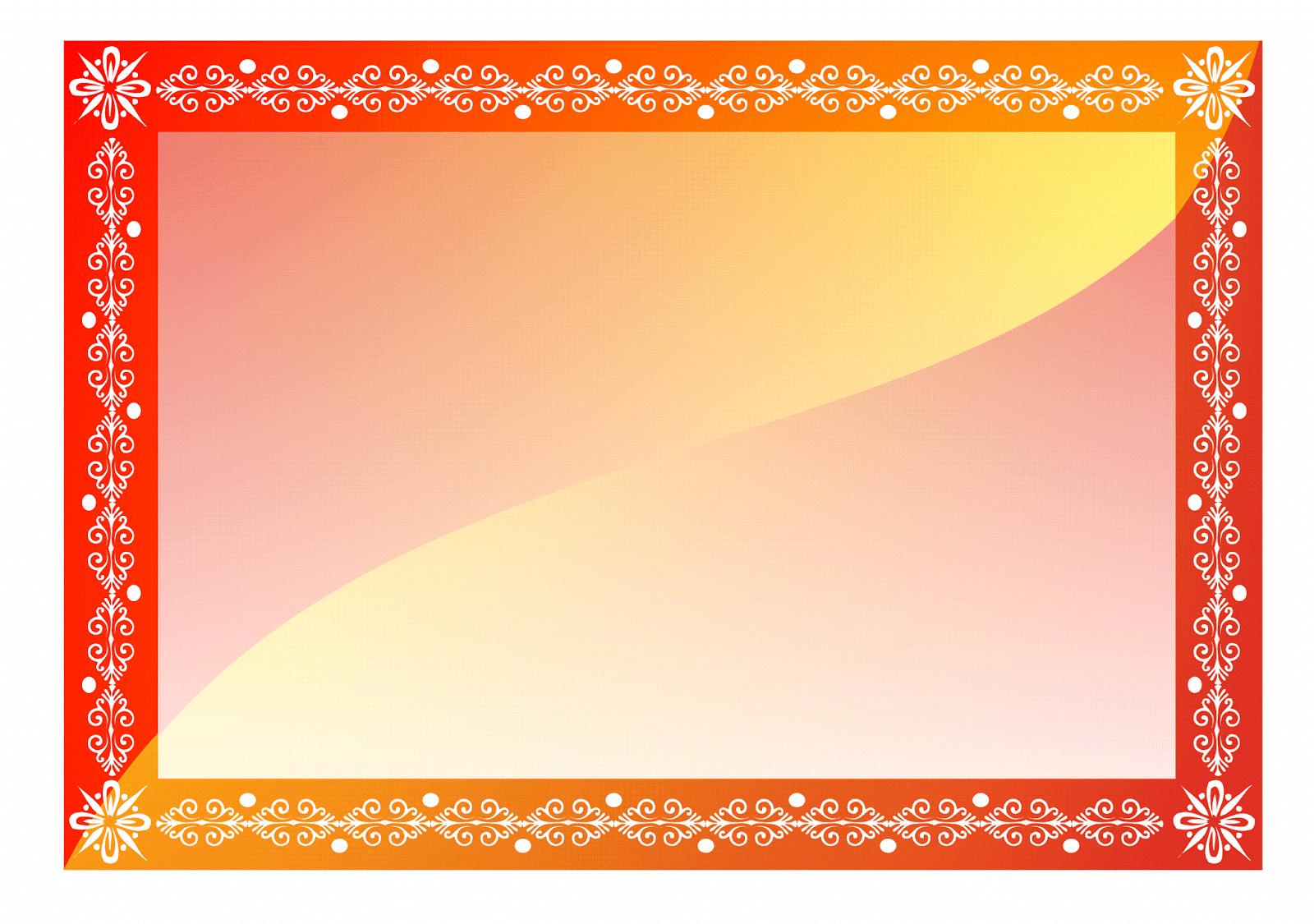 List of top bingkai kartu ucapan images -  2 Gambar Contoh Bingkai Sertifikat Kosong 1 Dominan Merah Dan Orange