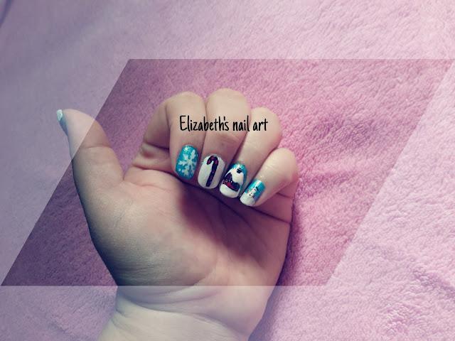 diseño de uñas navideño