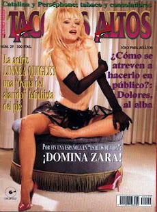 Dómina Zara colaboradora desde sus inicios en la Revista Tacones Altos, dirigida por Luís Vigíl