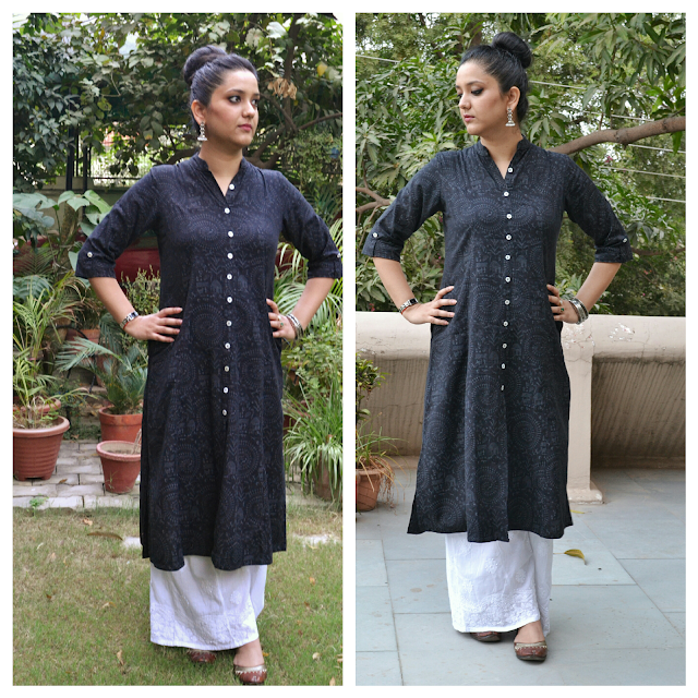 Indian ethnic look Long Kurta with Palazzo