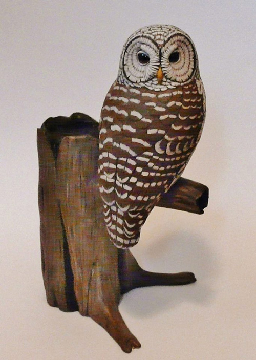 My owl barn tim mceachern bird carver