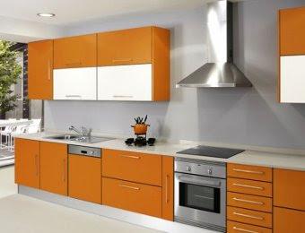 Decoraci n de interiores decora tu cocina de color naranja - Cocinas color naranja ...