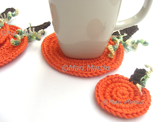 Crochet Coasters Pumpkin Fall
