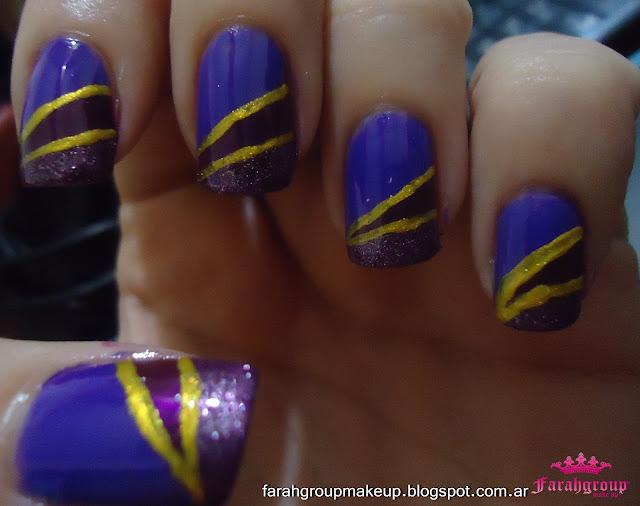 Desafio nail Art uñas violetas