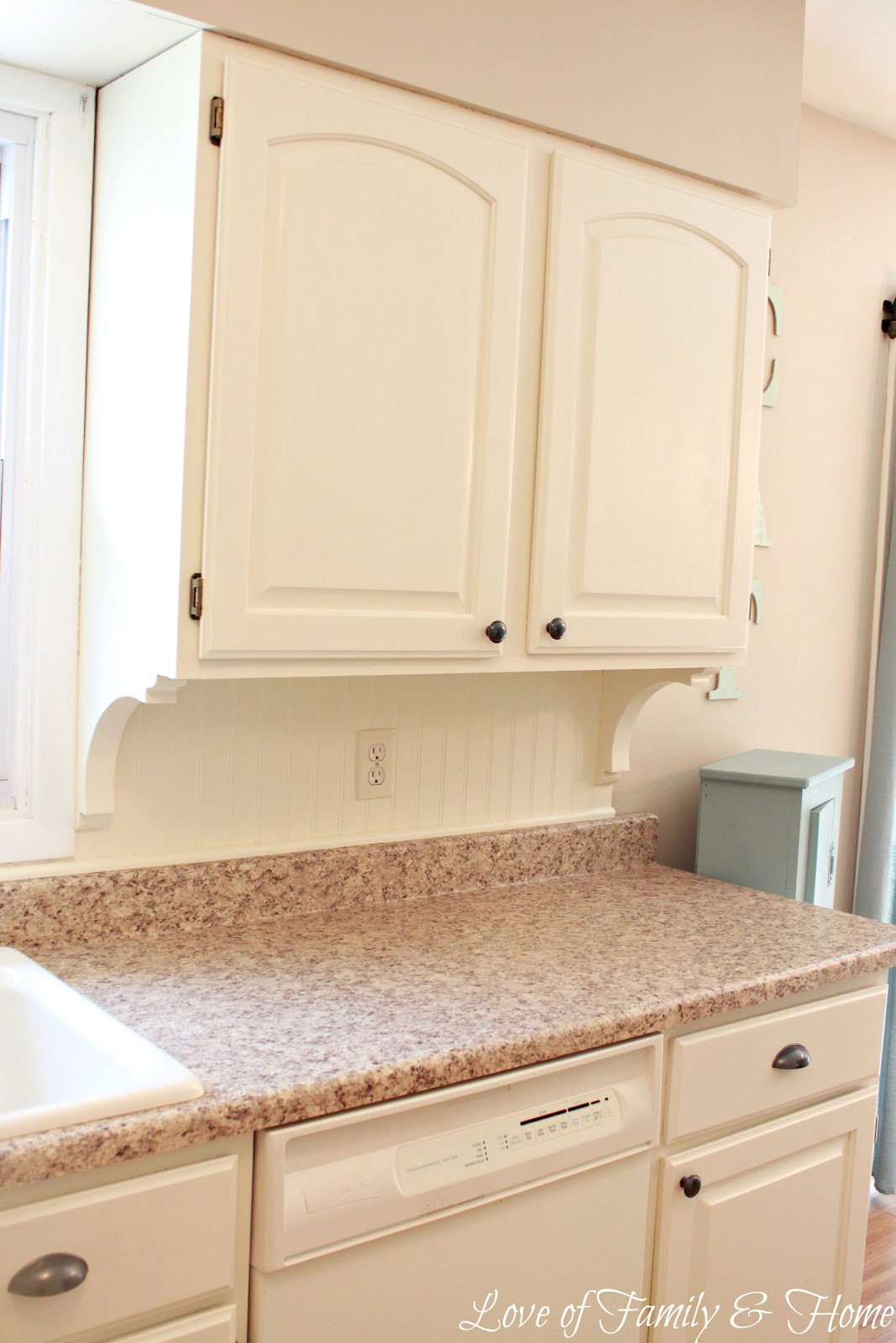 Kitchen Backsplash Beadboard beadboard backsplash, corbel love, & a few other kitchen updates