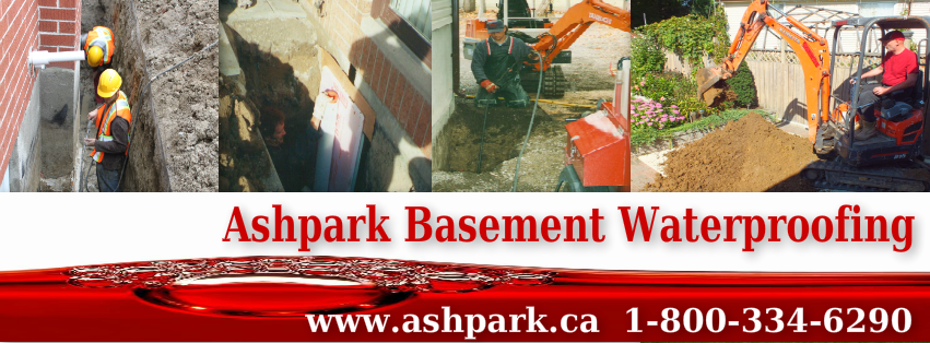 Ashpark Wet Basement Waterproofing Solutions 1-800-334-6290