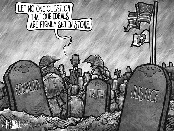 Kip Lyall: Cartoon: American Ideals
