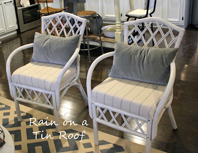 Craigslist Cane Chairs Makeover {rainonatinroof.com} #cane #chair #makeover