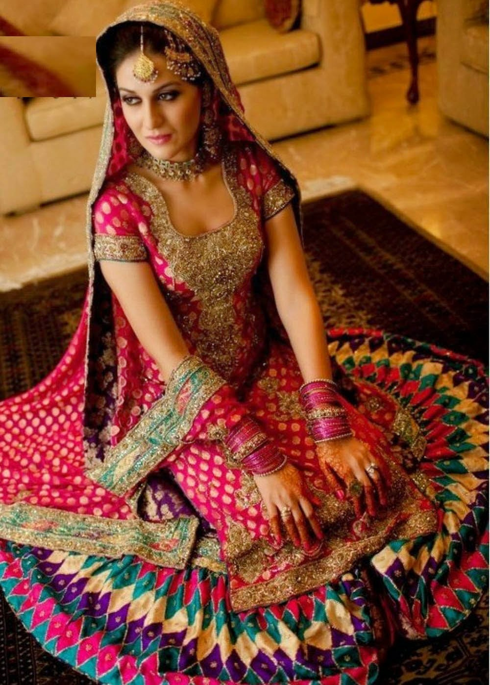 pakistani wedding dresses 2014 for girls pictures photos