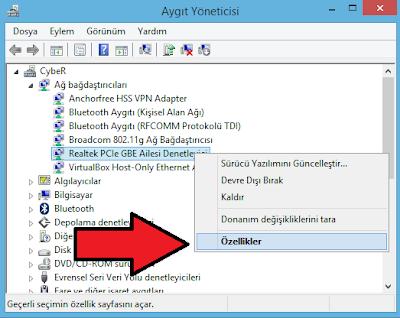 Windows 8.1 Sürücülerin Sürüm Numarasını Bulma