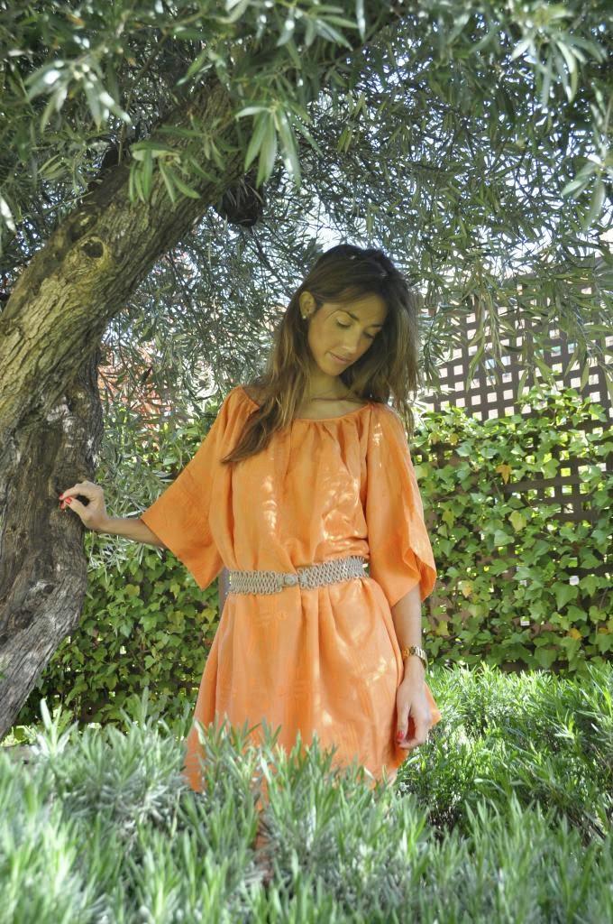 Vestido Blanca,Magnolia Trendy,naranja
