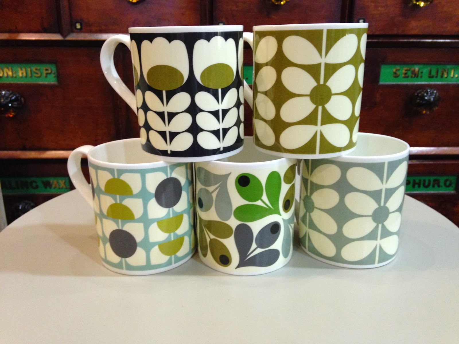 Orla Kiely Mugs from Willow and Stone