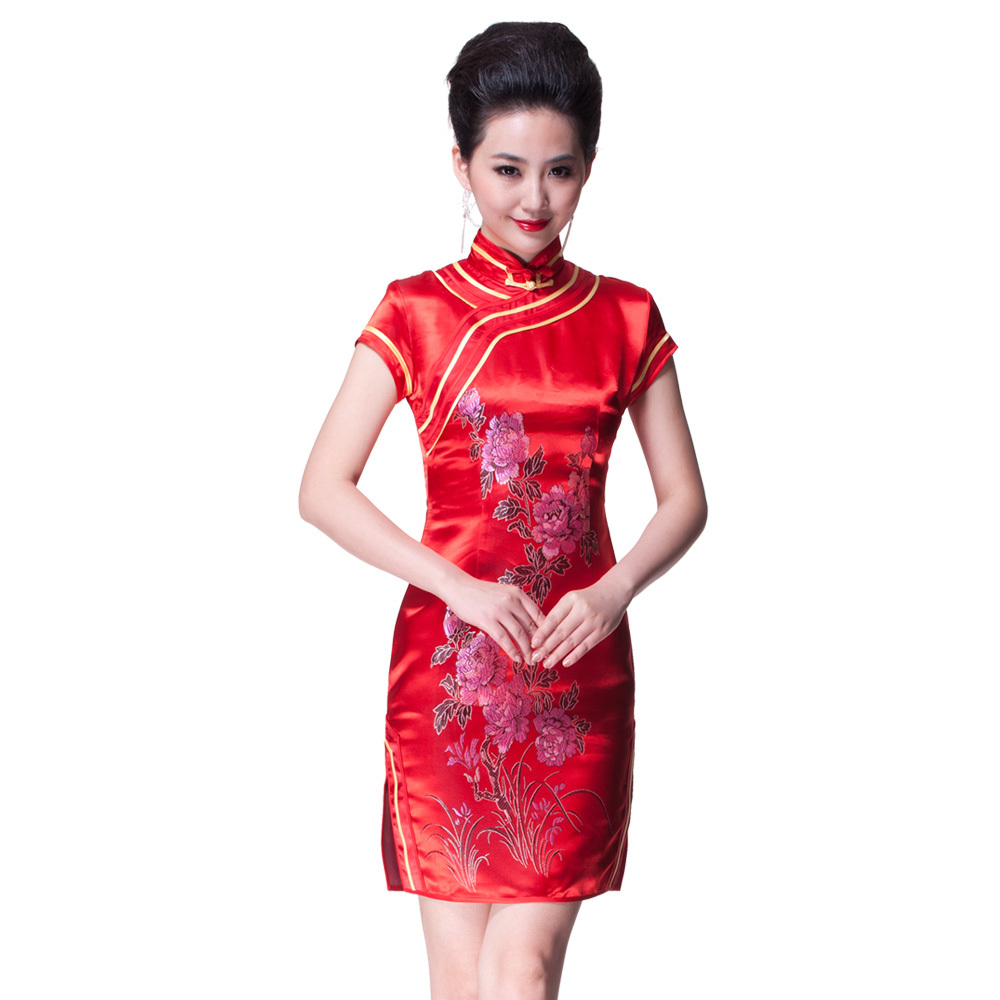 Jue Space Wordless Wednesday Red Cheongsam