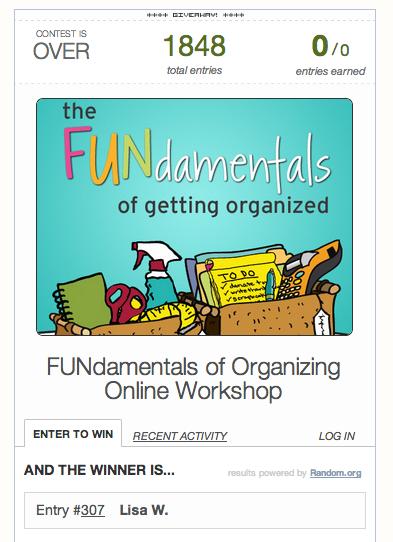 Online organizing class