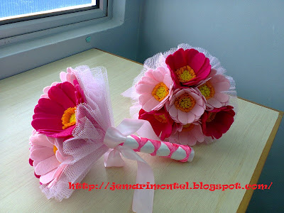 felt hand bouquet, unik, cantik