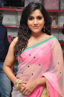 Rashmi Gautam Latest 2016  Stills In Pink Saree (3).JPG