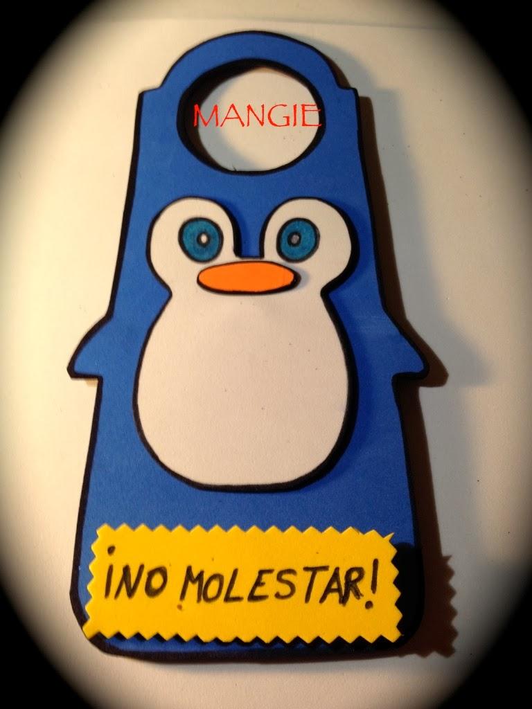 Colgador puerta pingüino